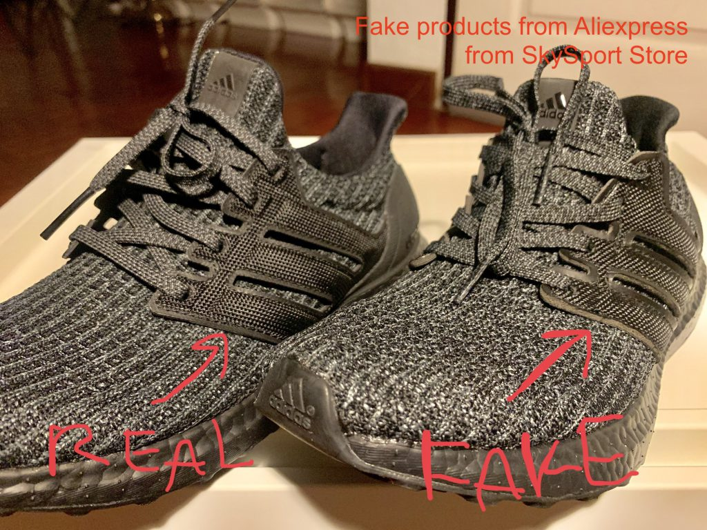 promo code cd3bb 93132 วิธีการดู Adidas Ultra Boost Triple Black 4.0 ปลอม ที่ปลอม ...